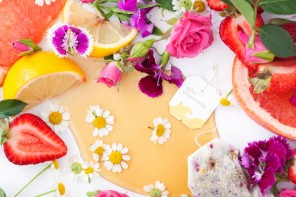 bebidas florais floral drinks